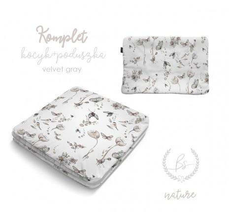 Kocyk Velvet z poduszką -...