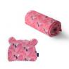 Komplet bambusowy M - Flamingi róż