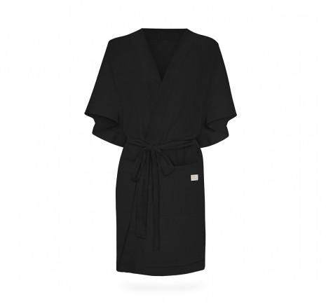 Szlafrok/kimono Linen - Black