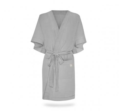 Szlafrok/kimono Linen - Gray